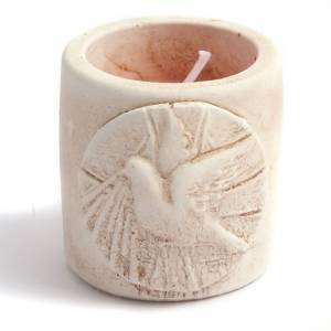 Scented-candle in terracotta vase s3