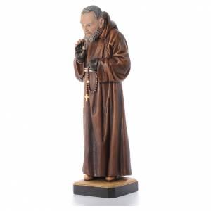 Statuen aus gemalten Holz: Schnitzerei Grödnertal Pater Pio