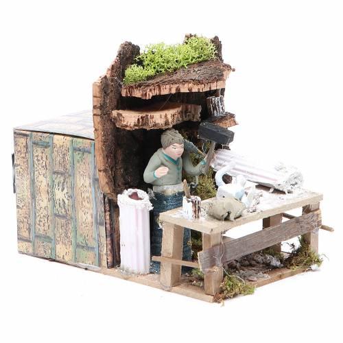 Sculpteur 7 cm animation crèche s3