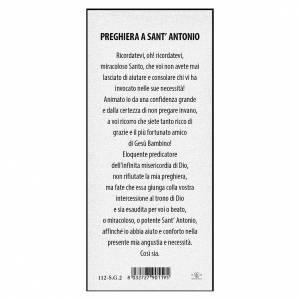Segnalibro: Segnalibro carta perlata Sant'Antonio da Padova Preghiera 15x5 cm ITA