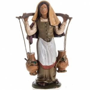 Belén terracota Deruta: Señora con el agua para el pesebre en terracota 18cm.