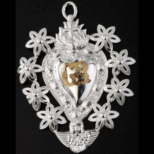 Wota błagalne i dziękczynne: Serce wotywne kwiaty 11x8.5 cm