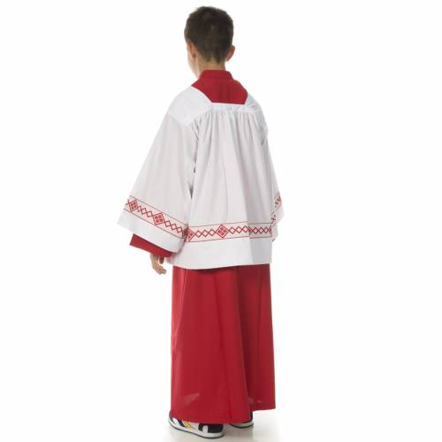 Server surplice and red cassock s4