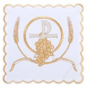 Servizi da messa e conopei: Servizio da messa 4pz. simboli croce P uva spighe