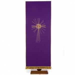 Welony Serwety Nakrycia na ambonę: Serweta na lektorium IHS i promienie kolory liturgiczne
