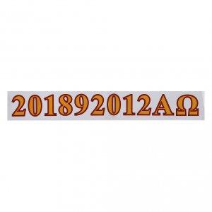 Set adhesivos alfa, omega y año s1