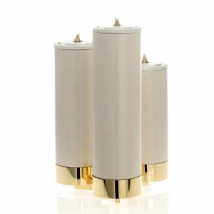 Candelieri metallo: Candeliere 3 fiamme con finte candele