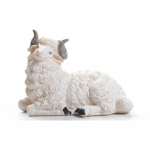 Sheep nativity figurine in resin 50cm s1