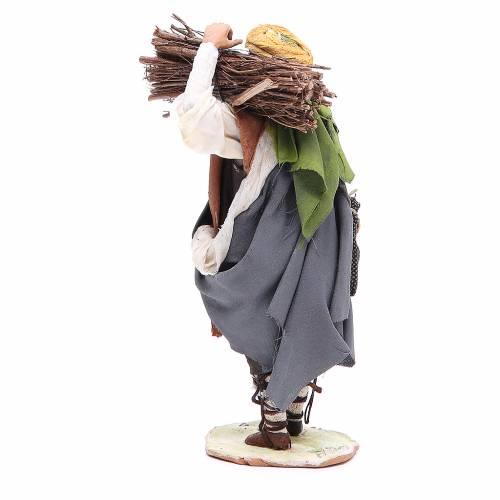 Shepherd with wood 18cm by Angela Tripi s3