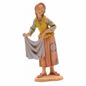 Shepherdess with cloth, 12cm by Fontanini s1