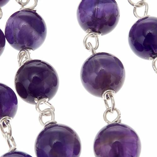 Silver 925 rosary and amethyst s2