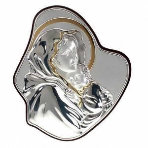 Silver/Gold Bas Relief Madonna del Ferruzzi s1