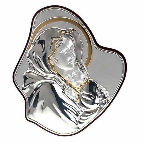 Silver/Gold Bas Relief Madonna del Ferruzzi 1