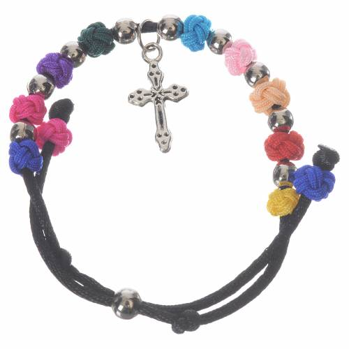 Single-decade Medjugorje bracelet with cord s1