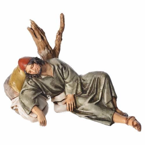 Sleeping shepherd, nativity figurine, 13cm Moranduzzo s1