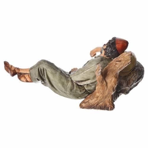 Sleeping shepherd, nativity figurine, 13cm Moranduzzo s2