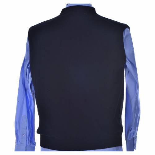 Sleeveless black cardigan, 100% cashmere wool s3