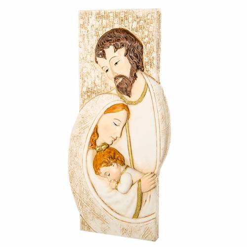 Small painting Holy Family rectangular shape 9x19cm s1