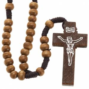 Small rosary in naturaly wood 5mm s1