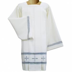 Albas litúrgicas: Sobrepelliz marfil 65% poliéster 35% algodón recam