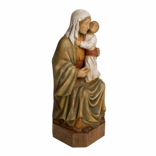 Spanish Virgin statue in painted Bethléem wood, 27 cm s2
