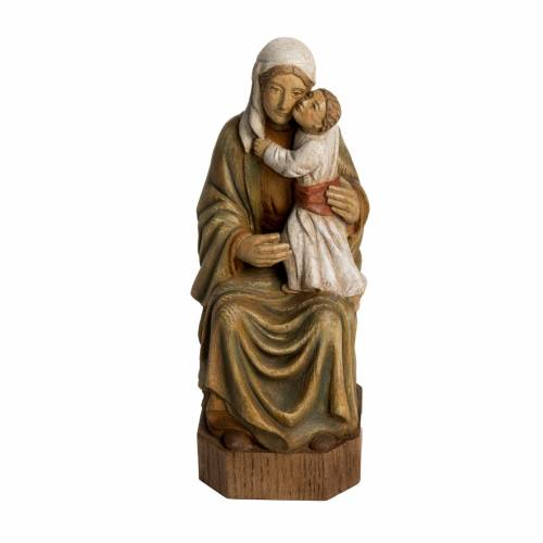 Spanish Virgin statue in painted Bethléem wood, 27 cm s1