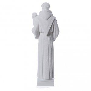 St Antoine de Padoue marbre blanc 40cm s4