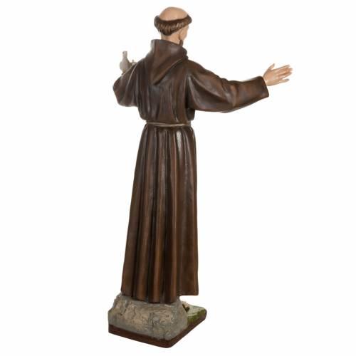 St François avec colombe fibre de verre 100 cm s9