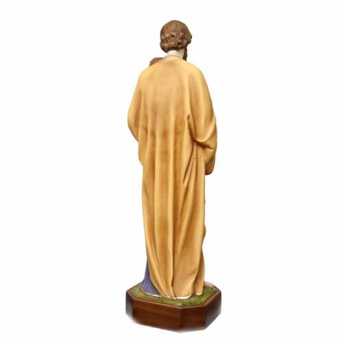 St Joseph à l'enfant 130 cm fibre de verre peinte s7