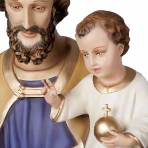 St Joseph avec enfant statue fibre de verre 160 cm s2