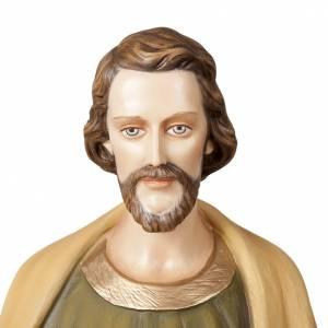 St Joseph travailleur marbre reconstitué 100cm colorée s2