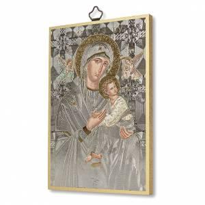 Stampa su legno Icona Madonna Perpetuo Soccorso A Te Maria fonte di Vita ITA s2