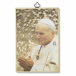 Quadri, stampe, codici miniati: Stampa su legno San Giovanni Paolo II Preghiera per la Pace ITA