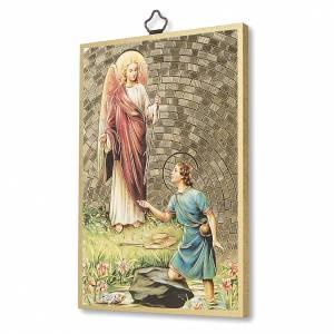 Stampa su legno San Raffaele Arcangelo Preghiera ITA s2