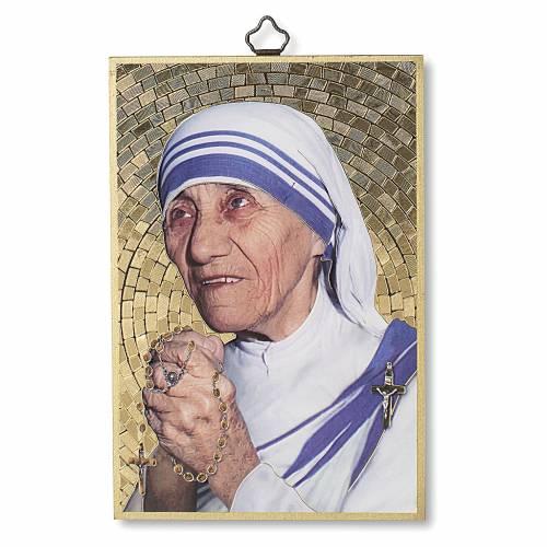 Stampa su legno Santa Madre Teresa di Calcutta s1