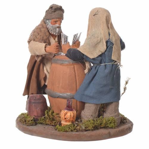 Standing men playing cards, Neapolitan Nativity 10cm s2
