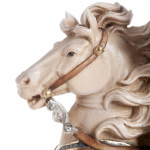 Statua legno San Martino su cavallo dipinta Val Gardena s4