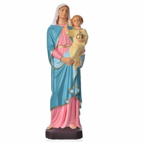 Statua Madonna con bambino 30 cm materiale infrangibile s1