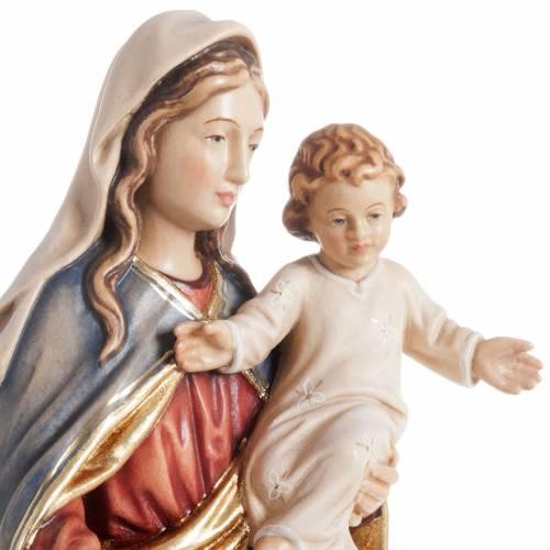 Statua Madonna con bambino legno dipinto Val Gardena s2