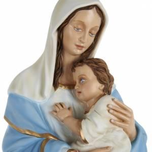 Statue in Vetroresina: Statua Madonna con bimbo al petto 80 cm