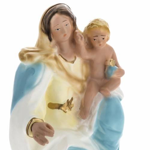 Statua Madonna della Neve gesso 30 cm s2
