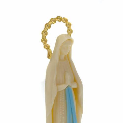Statua Madonna di Lourdes fosforescente 14 cm s2