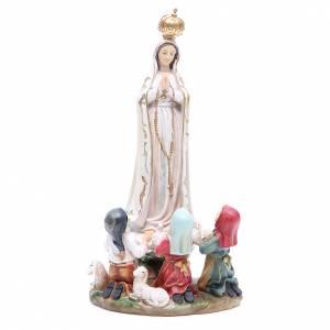 Statua Madonna Fatima 30 cm resina s1