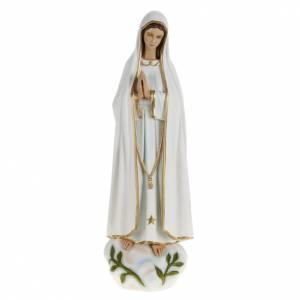 Statua Madonna Fatima 60 cm polvere di marmo dipinta s1