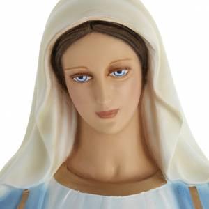 Statua Madonna Immacolata 100 cm marmo sintetico dipinto s2