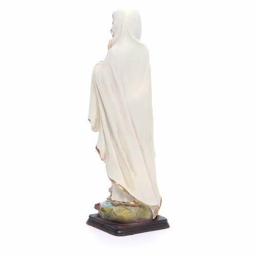 Statua Madonna Lourdes 20,5 cm resina s3