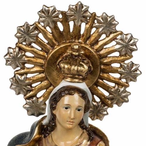 Statua Purissima Concezione 50 cm pasta di legno fin extra s2