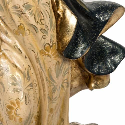 Statua Purissima Concezione 50 cm pasta di legno fin extra s5