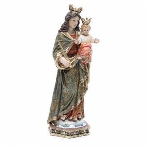 Statua resina Maria Ausiliatrice 32 cm oro s4
