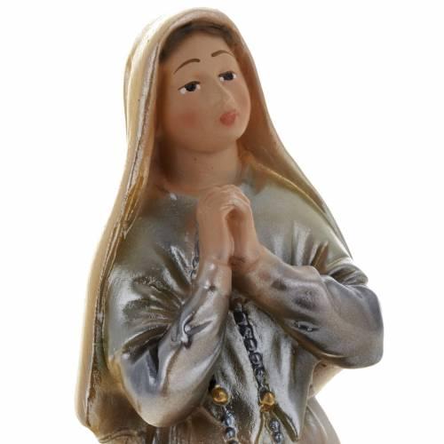 Statua S. Bernadette gesso madreperlato 20 cm s2